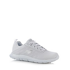 Skechers - White 'Flex Flex Appeal' leather blend trainers