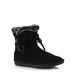 Skechers - Black 'Shelbys' suede mix boots