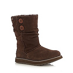 Skechers - Dark brown 'Keepsakes-Freezing' boots