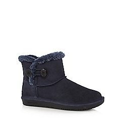 Skechers - Navy 'Shelbys Ottowa' suede ankle boots
