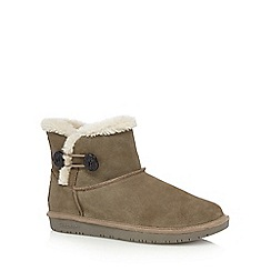 Skechers - Taupe 'Shelbys Ottowa' suede ankle boots