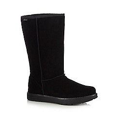 Skechers - Black 'Adorbs' suede buckle ankle boots