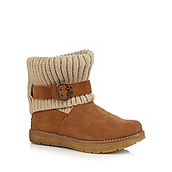 Skechers - Tan 'Adorbs' suede buckle ankle boots