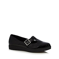 Rocket Dog - Black patent cutout buckle shoes