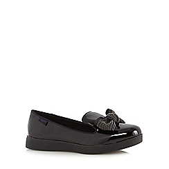 Rocket Dog - Black patent textured beaded bow loafers