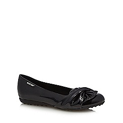 Rocket Dog - Black patent wrapped bow pumps