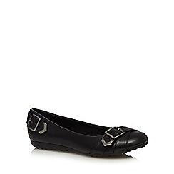 Rocket Dog - Black buckle pumps