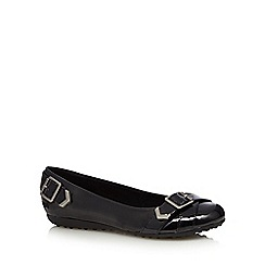 Rocket Dog - Black patent buckle pumps