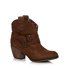 Rocket Dog - Brown buckle ankle boots