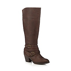 Rocket Dog - Brown two buckle knee-high boots