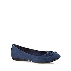 Rocket Dog - Navy knotted suedette pumps