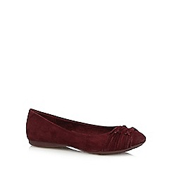 Rocket Dog - Dark purple knotted suedette pumps