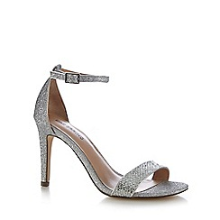 Call It Spring - Silver 'Waylanda' high stiletto heel ankle strap sandals