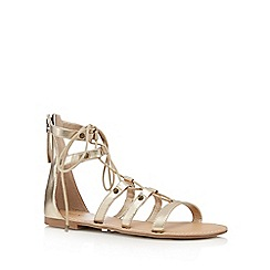 Call It Spring - Light gold 'Charilyn' lace-up sandals