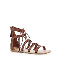 Call It Spring - Tan 'Charilyn' lace-up sandals