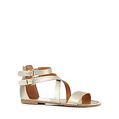 Call It Spring - Gold 'Tarkastad' flat sandals