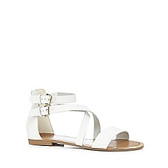 Call It Spring - White 'Tarkastad' flat sandals