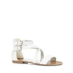 Call It Spring - White 'Tarkastad' flat sandals