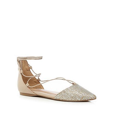 Call It Spring - Light gold gladiator sandals