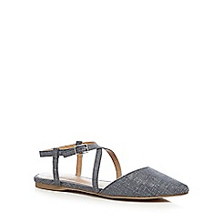 Call It Spring - Blue 'Frogaut' ankle strap sandals