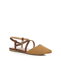 Call It Spring - Tan 'Frogaut' ankle strap sandals
