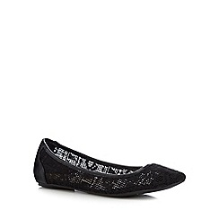 Call It Spring - Black lace 'Olaviel' pumps