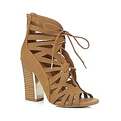 Call It Spring - Tan 'Aleawen' high gladiator sandals