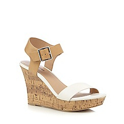 Call It Spring - White 'Isoline' wedge sandals
