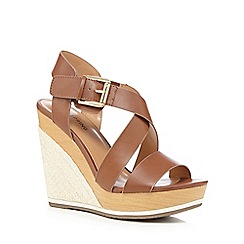 Call It Spring - Tan 'Lalisen' high wedge sandals