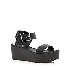 Call It Spring - Black 'Pantani' mid wedge sandals