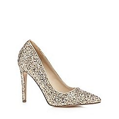 Call It Spring - Gold glitter high court shoes