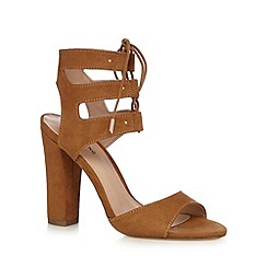Call It Spring - Tan 'Zigorwen' lace high sandals