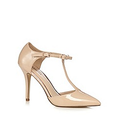 Call It Spring - Cream 'Hirassa' patent t-bar court shoes