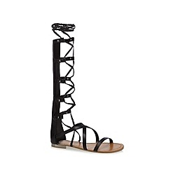 Call It Spring - Black 'Fathroth' lace-up sandals