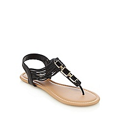 Call It Spring - Black 'Gwirwen' sandals