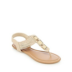 Call It Spring - Beige 'Gwirwen' sandals