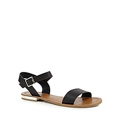 Call It Spring - Black 'Nibala' gold plated sandals