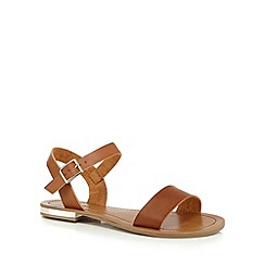 Call It Spring - Tan 'Nibla' gold plated sandals