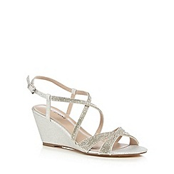 Call It Spring - Silver 'Amergina' mid wedge sandals
