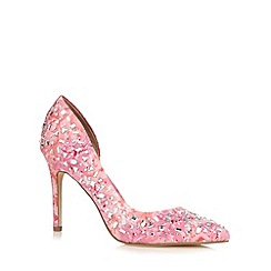 Call It Spring - Pink 'Kedien' jewel embellished high court shoes
