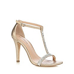 Call It Spring - Gold 'Midhurst' jewel embellished high sandals