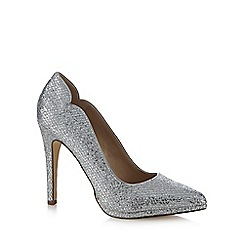 Call It Spring - Silver 'Shiell' high stiletto heel pointed shoes