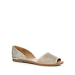 Call It Spring - Silver glitter 'Corboy' peep toe sandals