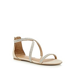 Call It Spring - Beige 'Touraz' diamante flat sandals