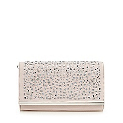 Call It Spring - Light pink 'Stites' suedette jewel embellished clutch bag