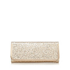 Call It Spring - Gold textured glitter clutch bag