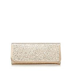 Call It Spring - Gold textured glitter clutch bag