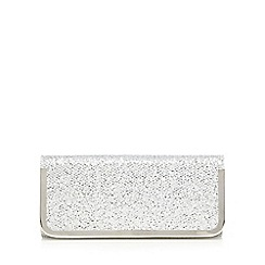 Call It Spring - Silver textured glitter clutch bag