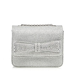 Call It Spring - Silver 'Exterior' clutch bag