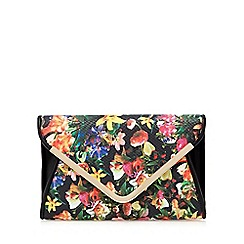 Call It Spring - Black floral 'Doubt' clutch bag